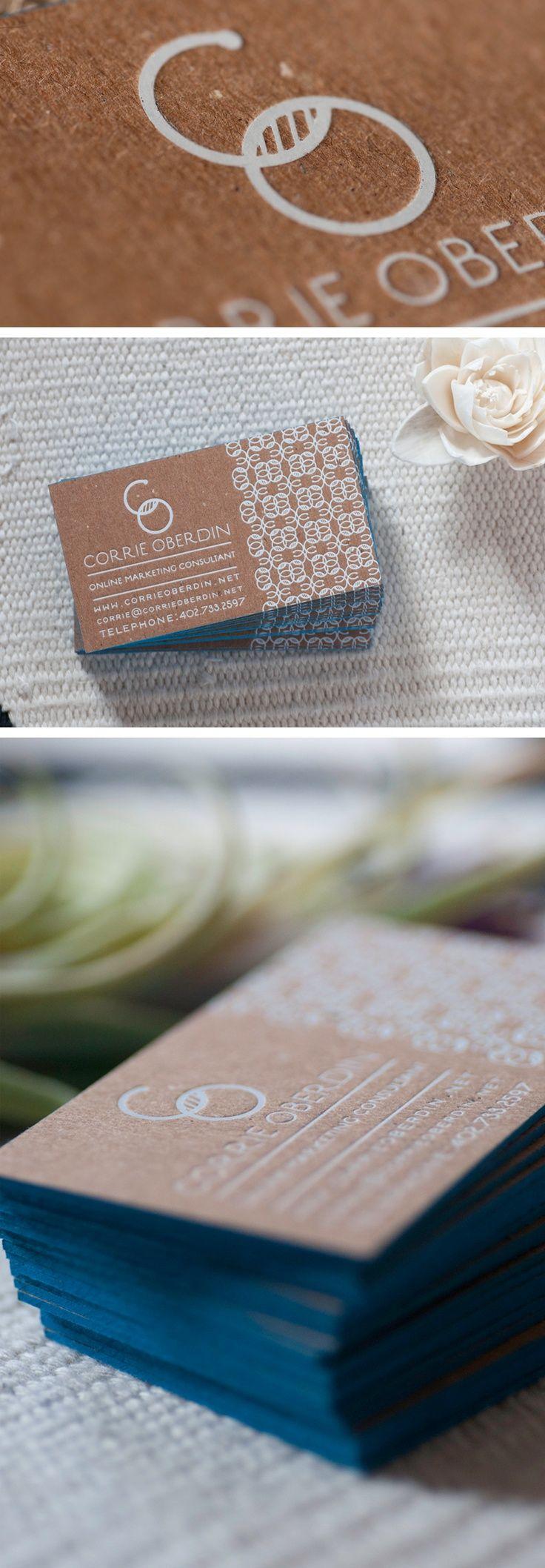 Matte white foil on kraft stock | Creative / Innovative Business ...