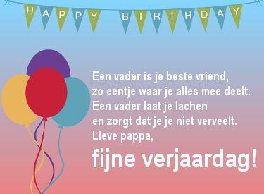 Fijne Verjaardag Papa Teksten Gedichten Voor Een Verjaardag