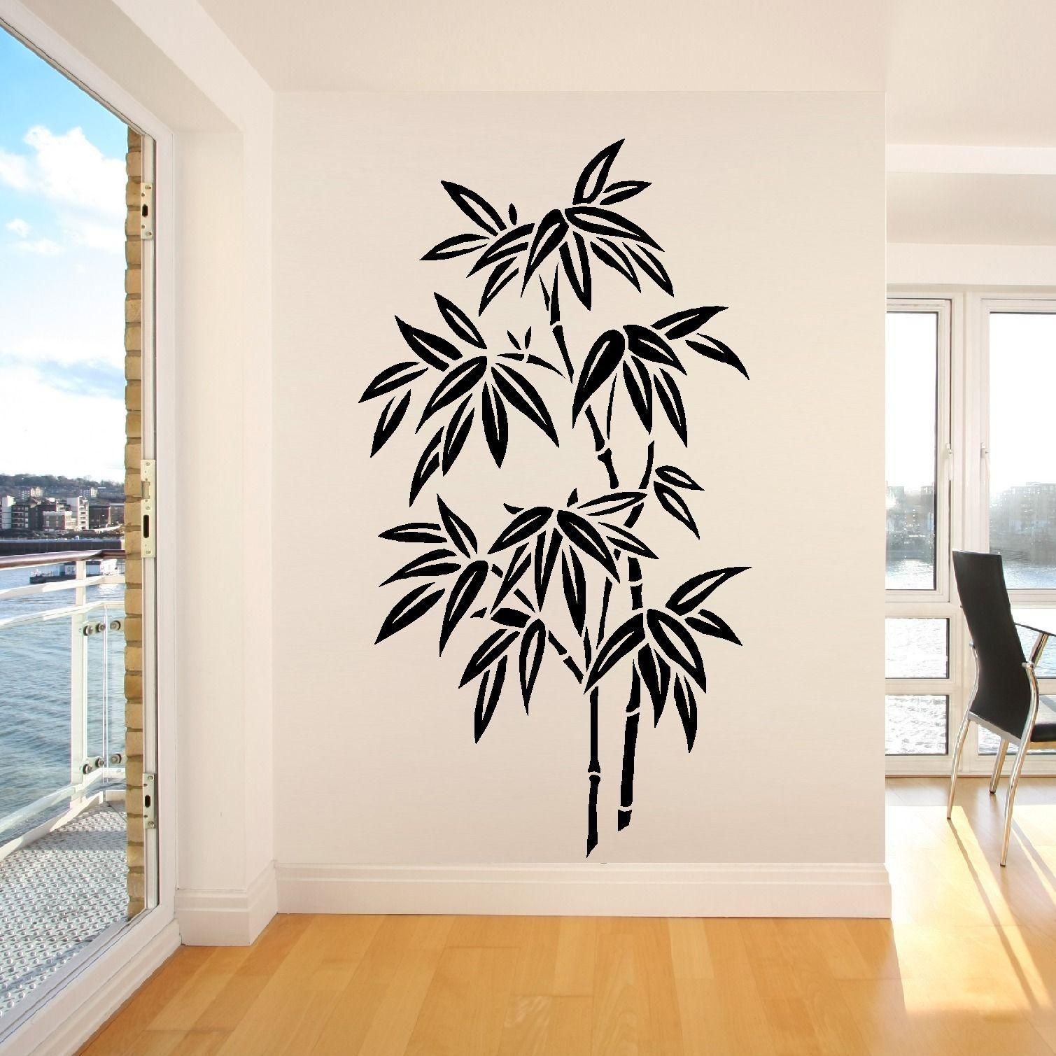 Os1673 Chinese Bamboo Tree Wall Art Room Sticker Decal Stencil