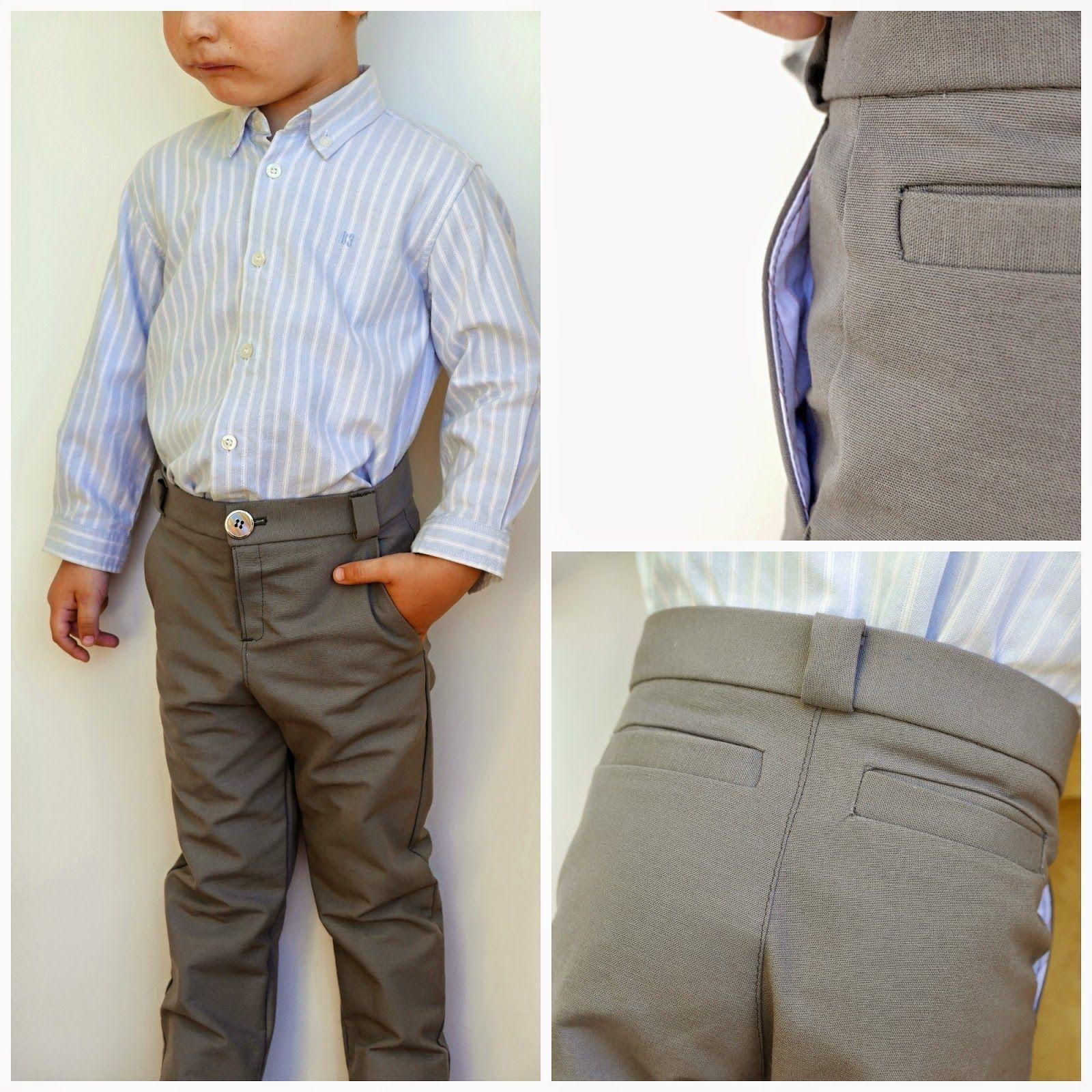 bc8458582 Pantalón de niño con bolsillos laterales | Patrons nens | Pantalones ...