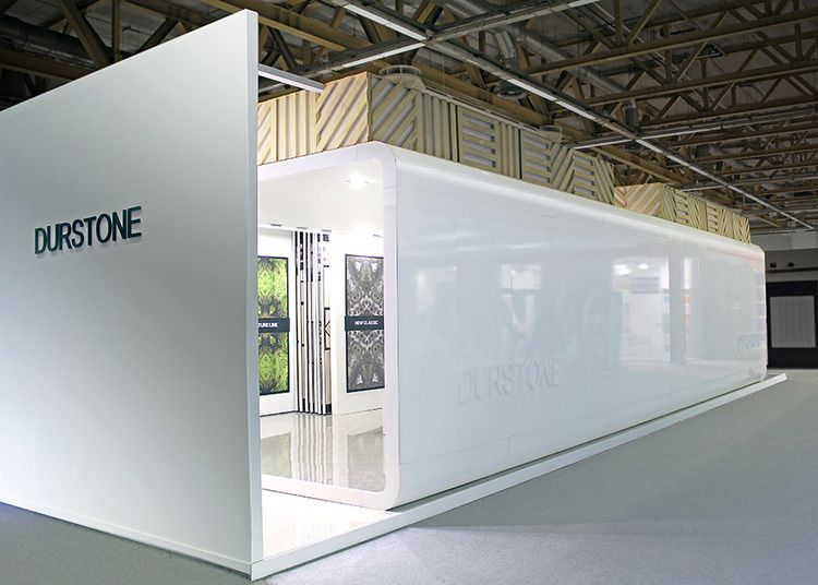 D Exhibition Booth Design Software : Durstone stand for cersaie exhibition design by
