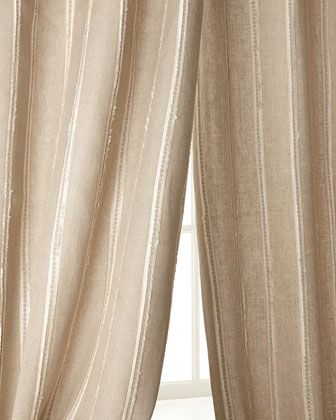 Curtains Ideas brown linen curtains : Creative Threads Radiant Striped Linen Curtains Linen embroidered ...