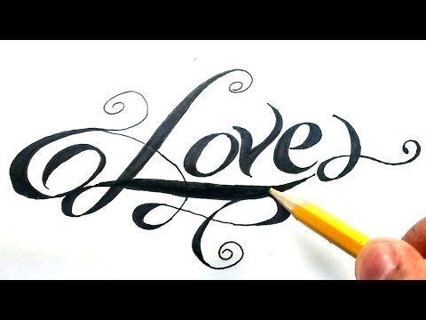 Como Dibujar La Palabra Love Paso A Paso How To Draw Love In