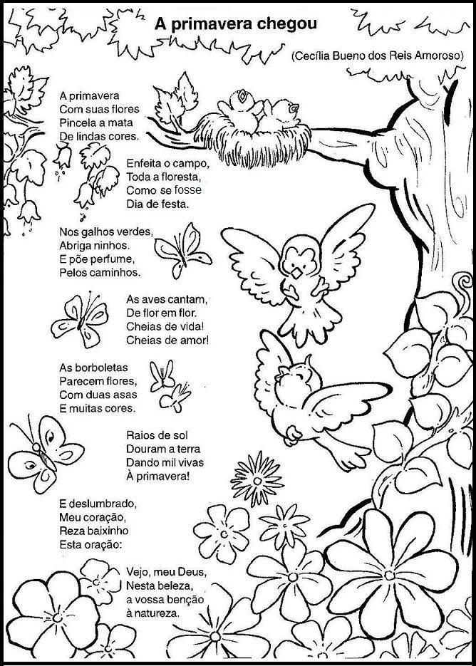 Desenhos Desenhos De Primavera Para Colorir Atividades Sobre A