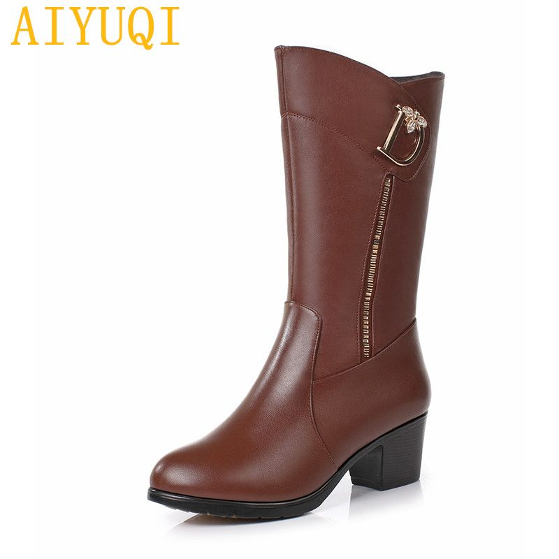 9d1770d538c5 AIYUQI Women boots 2019 new genuine leather women s fashion boots ...