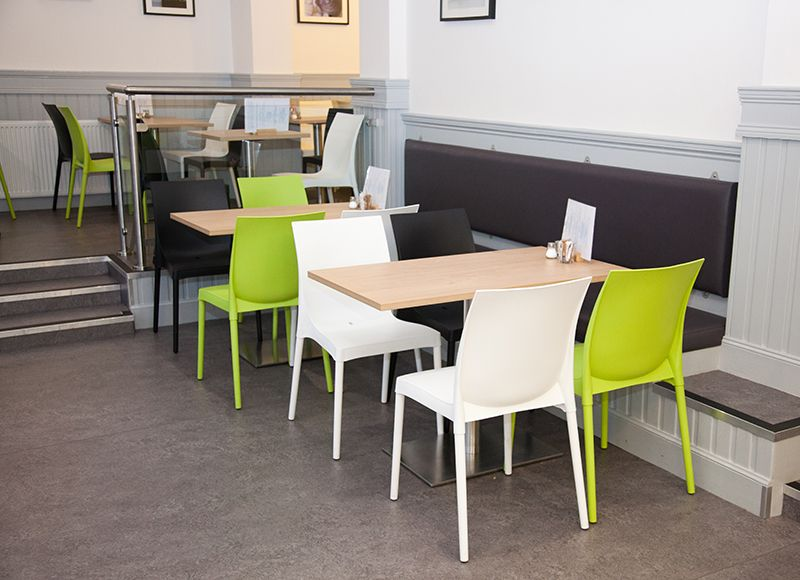 White Black Lime Green Caf Furniture By Edinburgh Interior Designer Catherine Lepreux Interiors