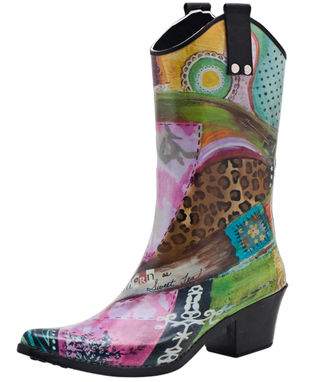 Bops Rain Boot Features Limited Edition Prints From
