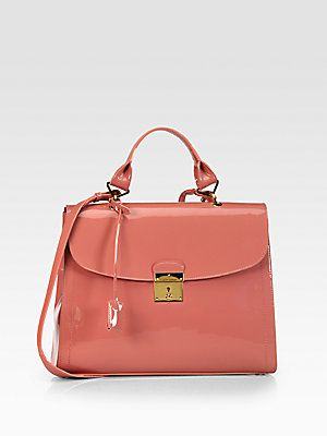 Pink bag by Marc Jacobs (The 1984 Patent Leather Satchel)