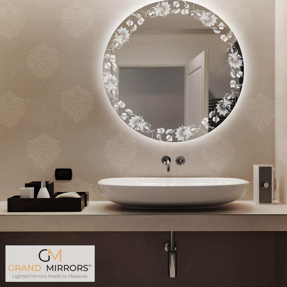 Etch Mirrors Etched Mirror Round Mirror Bathroom Mirror