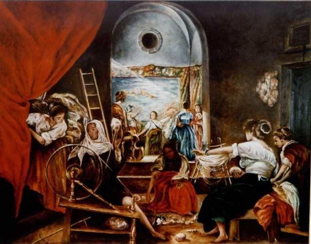 La fábula de Aracne (Las hilanderas) Diego Velázquez, c ...