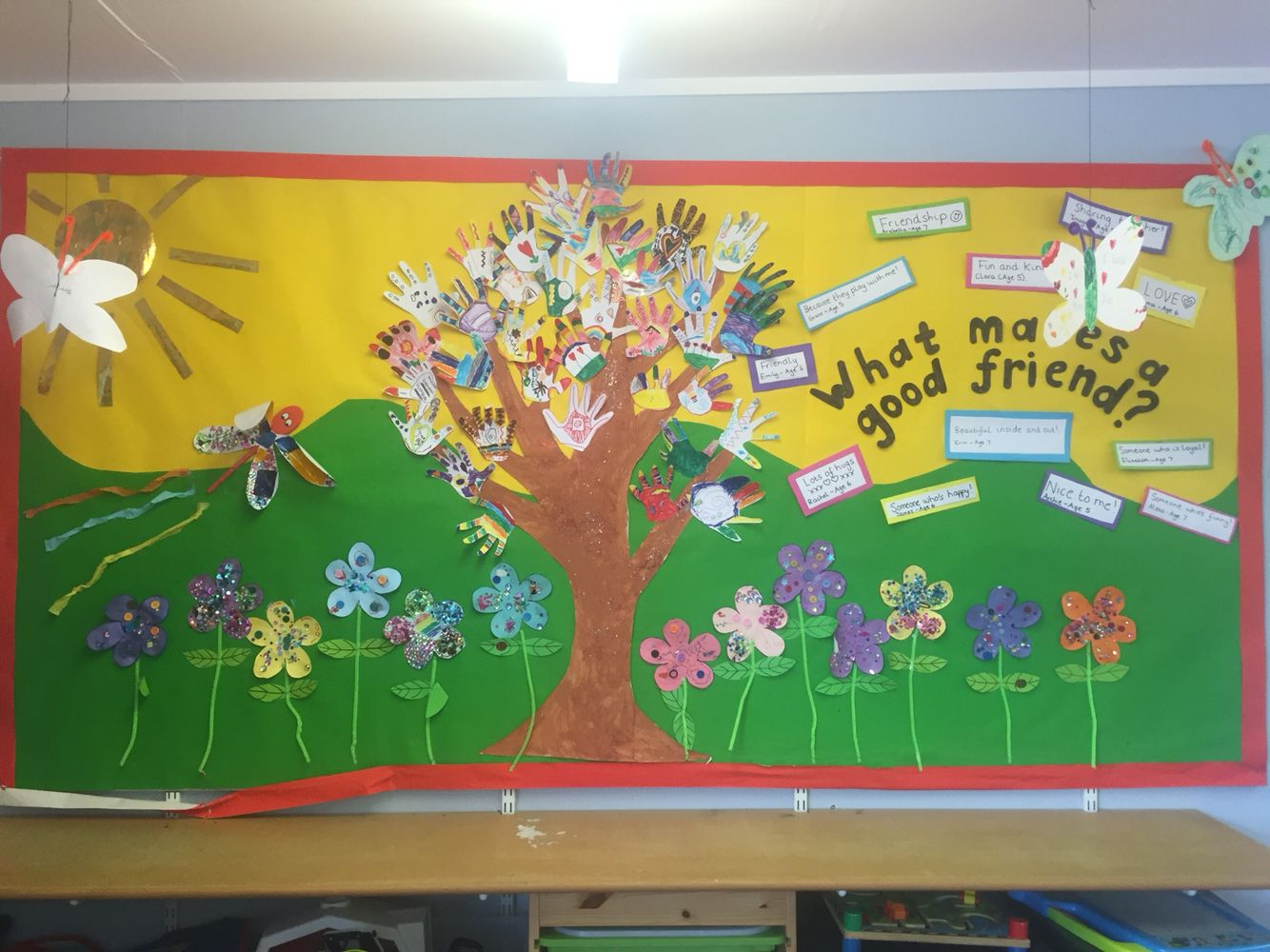 Our Friendship Display With A Friendship Tree Made From