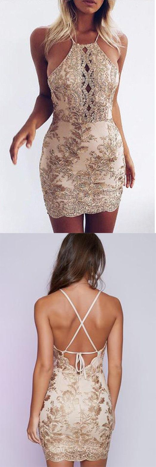 Backless Homecoming Dresses,Sheath Prom Dresses,Sequins Party ...