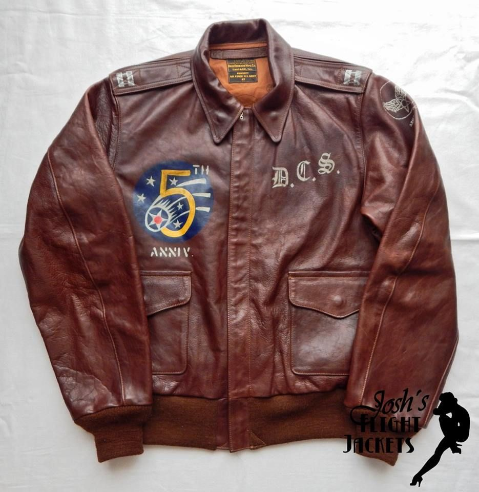 Aviation Pin Ups | WAR PAINT WWII USAAF Type A-2 leather flight ...