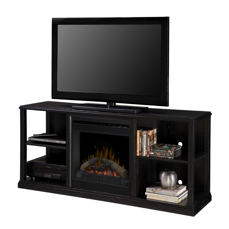 shop dimplex 60 5 in blackash flat wall electric fireplace at