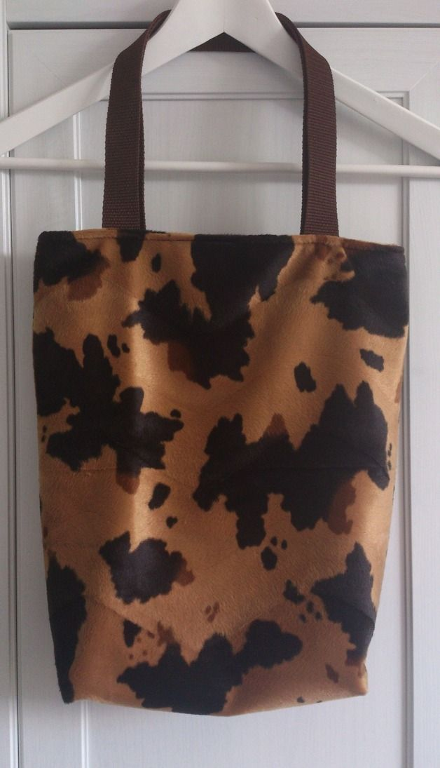 Einkaufstaschen - Shopper Tote bag in Kuh Tierfellimitat - ein Designerstück von sissela bei DaWanda