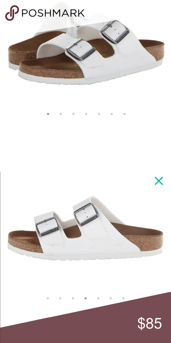 741e8cae8c59 NWT white Birkenstock Arizona TTS. Perfect unworn condition. Size 39   women s 8-8.5 Birkenstock Shoes Sandals