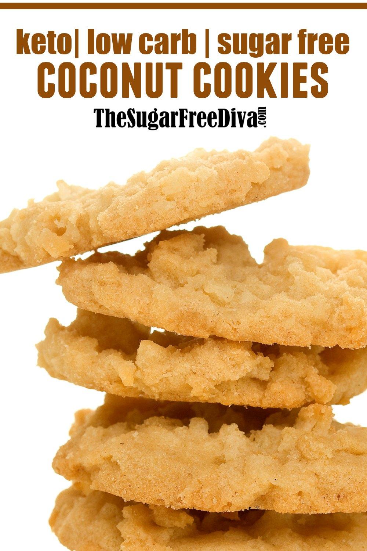Sugar Free Keto Coconut Cookies - THE SUGAR FREE DIVA