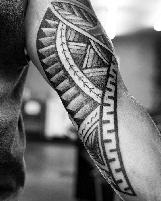 50 Polynesian Arm Tattoo Designs For Men - Manly Tribal Ideas ...
