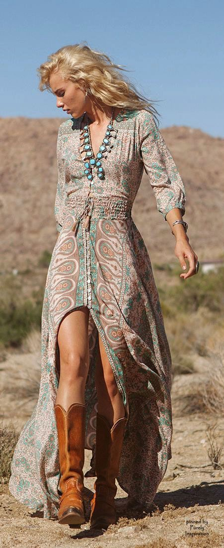 I love this dress....the link does not bring you to the dress but I'm still pinning because I love this dress here....Boho Chic   Purely Inspiration