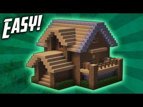 Minecraft How To Build A Survival Starter House Tutorial 4 Youtube Cute Minecraft Houses Minecraft Small House Easy Minecraft Houses