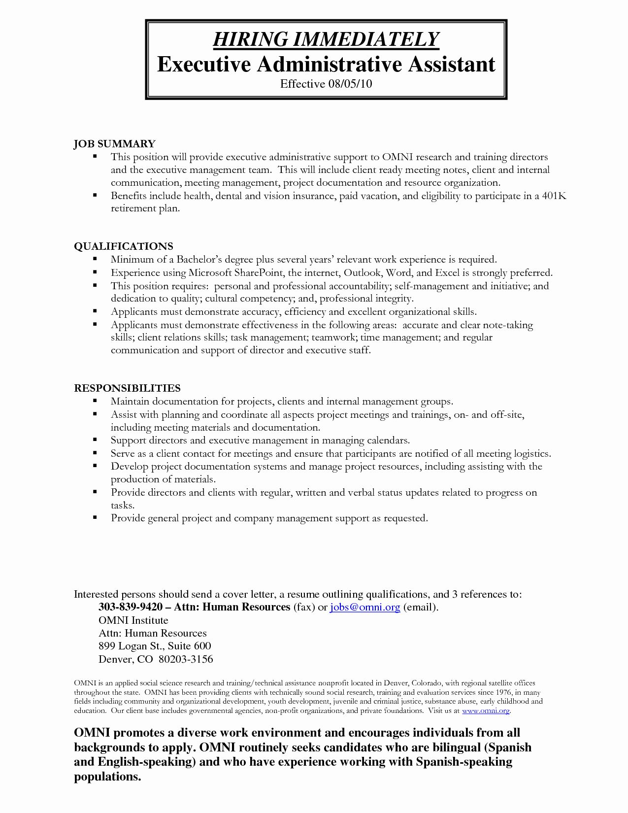 Construction Administrative Assistant Resume New Administrative
