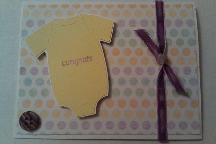 onesiebaby card  card making scrapbook cards baby cards