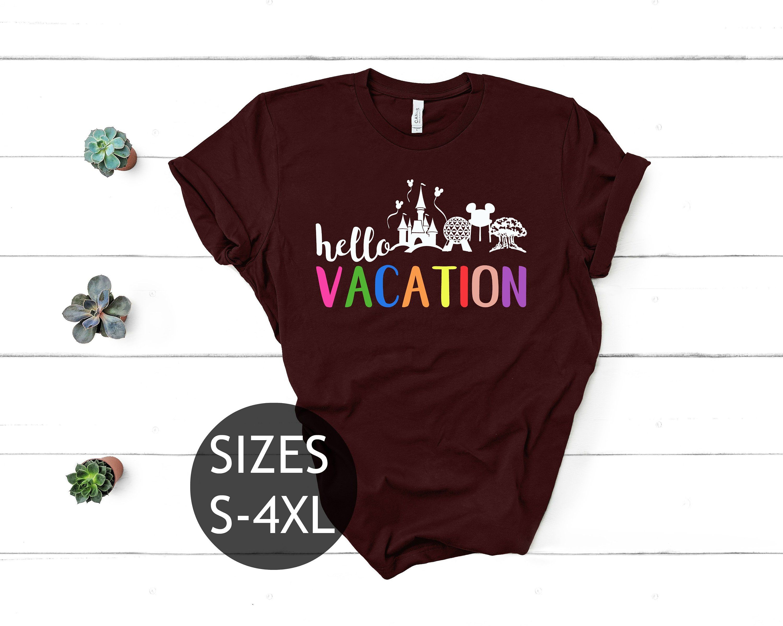 Walt Disney World Shirt Hello Vacation Shirt For Disney Vacations