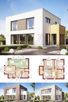 DESIGNHAUS MIT FLACHDACH // Haus Evolution 154 V9 Bien Zenker   Fertighaus  Im Bauhausstil   Moderne Architektur Mit Viel Glas Offenem Grundriss  Flachdach ...