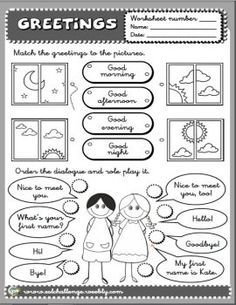 Greetings worksheet bw esl pinterest worksheets english greetings worksheet bw m4hsunfo