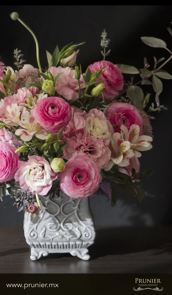 arreglos florales rosa 01 Wedding Pinterest Floral arrangement