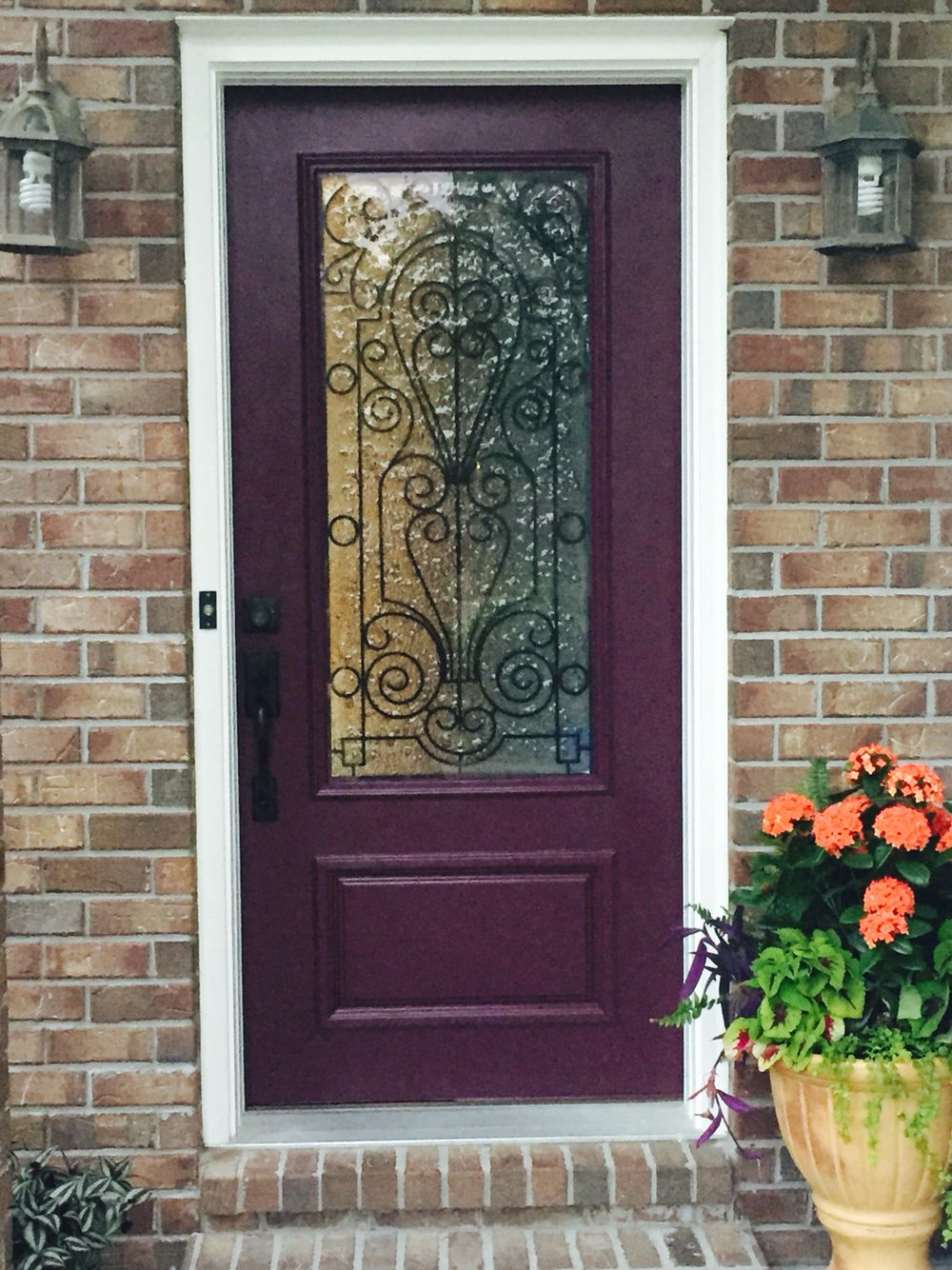 Front door color sherman williams blackberry home in 2019 purple front doors painted front - Front door paint colors ...