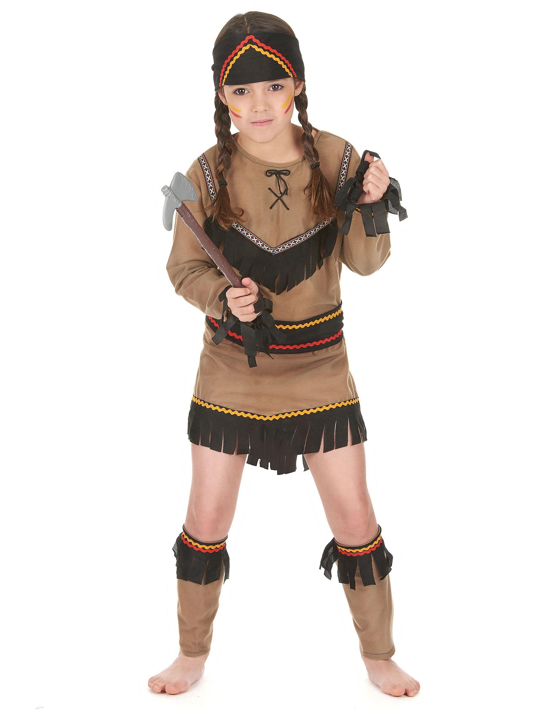 D guisement indienne fille ce d guisement indienne fille se compose d 39 une tunique manches - Deguisement petite fille ...