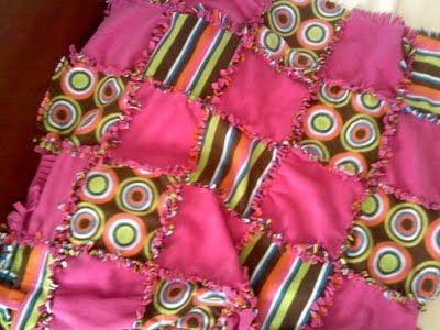 2071cd9694 Fleece Tie No Sew Rag Quilt Mantas De Bebé Hechas En Casa