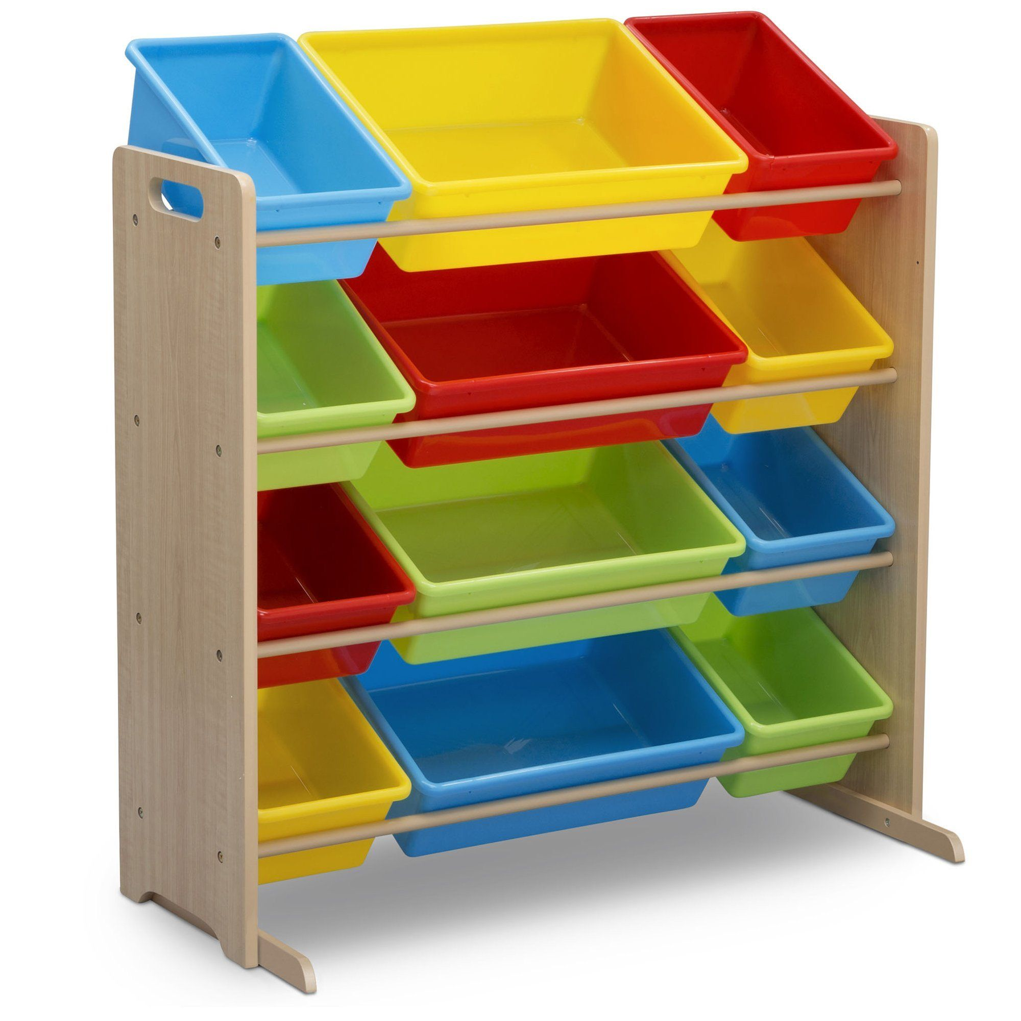 Delta Children Kids Toy Storage Organizer With 12 Plastic Bins Natural Primary A Lot More Information C In 2020 Kid Toy Storage Toy Storage