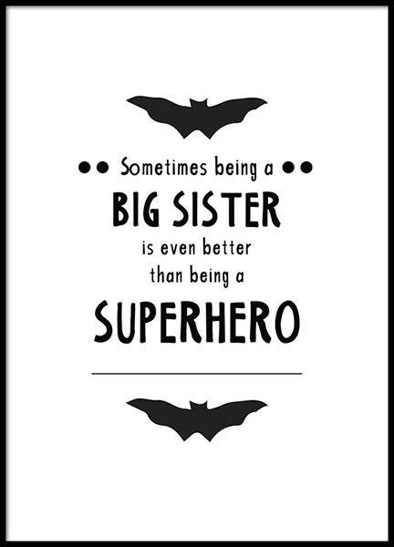 Big Sister Poster In Der Gruppe Poster Bei Desenio Ab 8873 Big