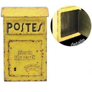 Armario llaves buzón retro amarillo