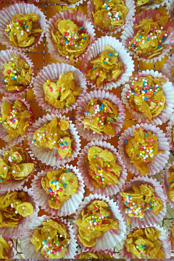 Resepi Biskut Cornflakes Madu Rangup Dan Mudah Resep Madu Sprinkles Gula