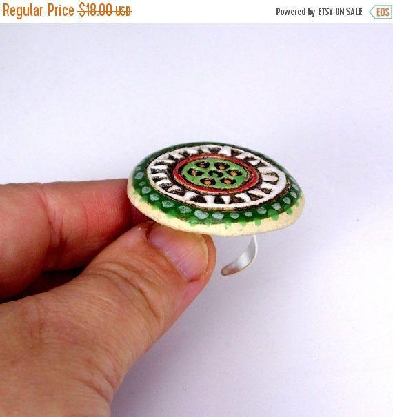 AUF Verkauf Keramikring orientalische Ring Mode-Ring