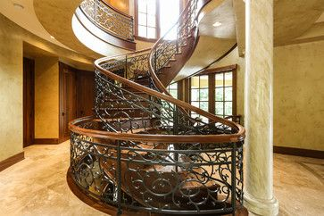 Grapevine Spiral Staircase Mediterranean Staircase Portland Amy Troute Inspired Interior Design Spiral Staircase Art Nouveau Furniture Building A House