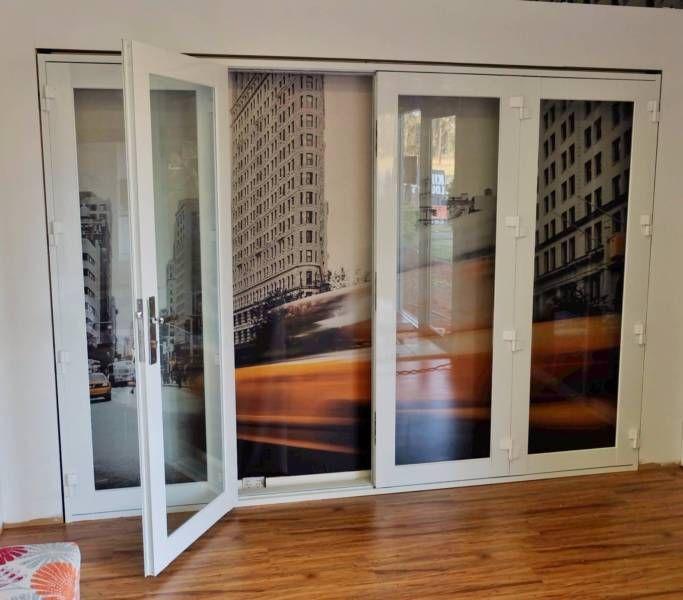 Aluminium Bifold Door 2950x2100h 4 Panel Adelaide Cbd Adelaide City Image 2 Timber Door Doors Casement Windows