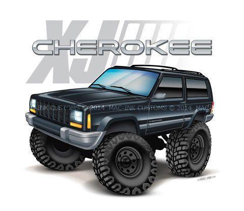 1997 01 Jeep Cherokee Xj 4x4 Emblem Custom T Shirt 2000 2001