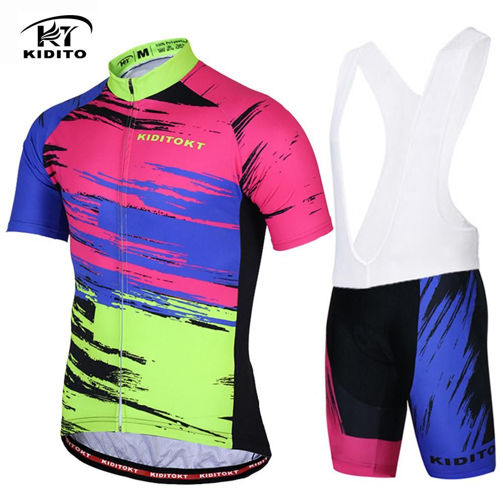 KIDITOKT Cycling Jersey Sets Short Sleeve Bicycle Clothes Breathable 3D GEL  Pad Pants MTB Bike Sportwear Bib Shorts Ciclismo. Yesterday s price  US   47.60 ... 3e9a212d8