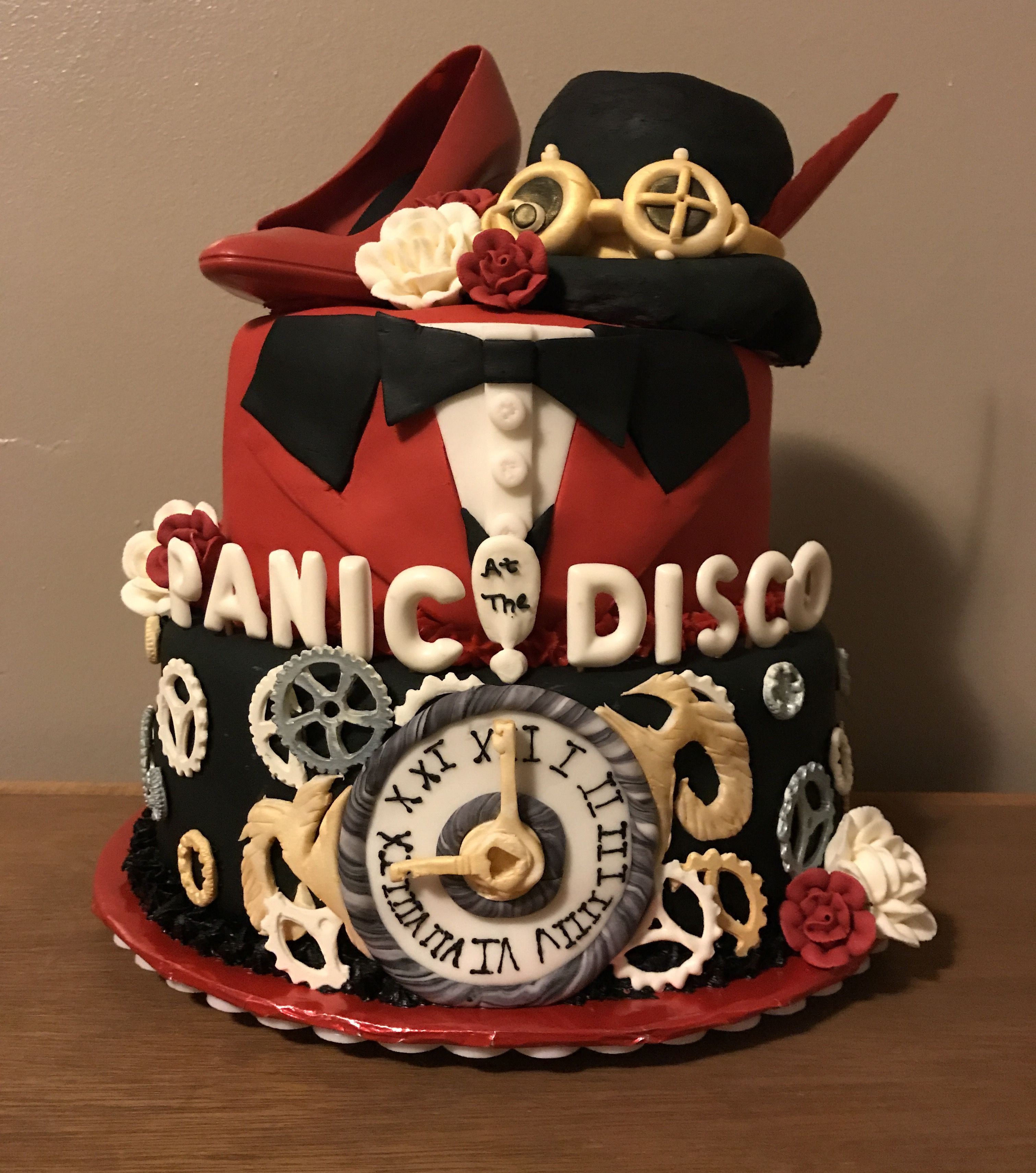 Fantastic Panic At The Disco Cake Made For My Daughters 13 Birthday Shes Birthday Cards Printable Nowaargucafe Filternl