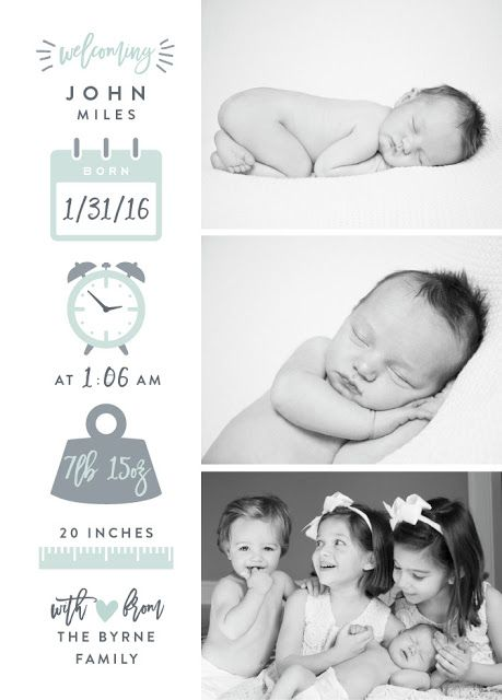 Ideas for Creating Birth Announcements: Easy, Classic ...
