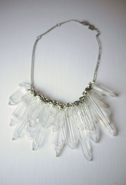 Ice crystals necklace by Tatty Devine via Eden & Eden. Like whoa.