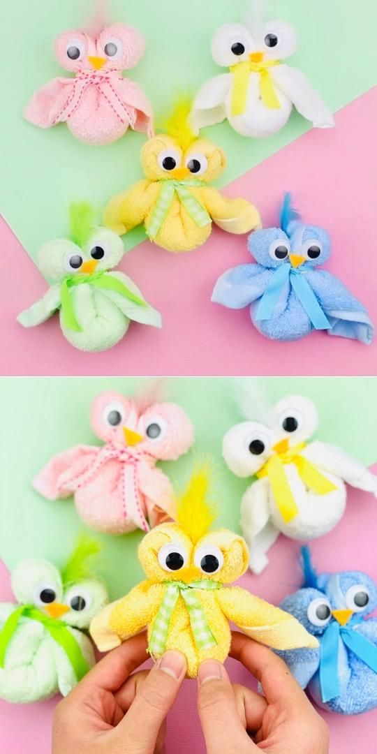 Photo of Towel Chicks Cute Easy Easter Craft