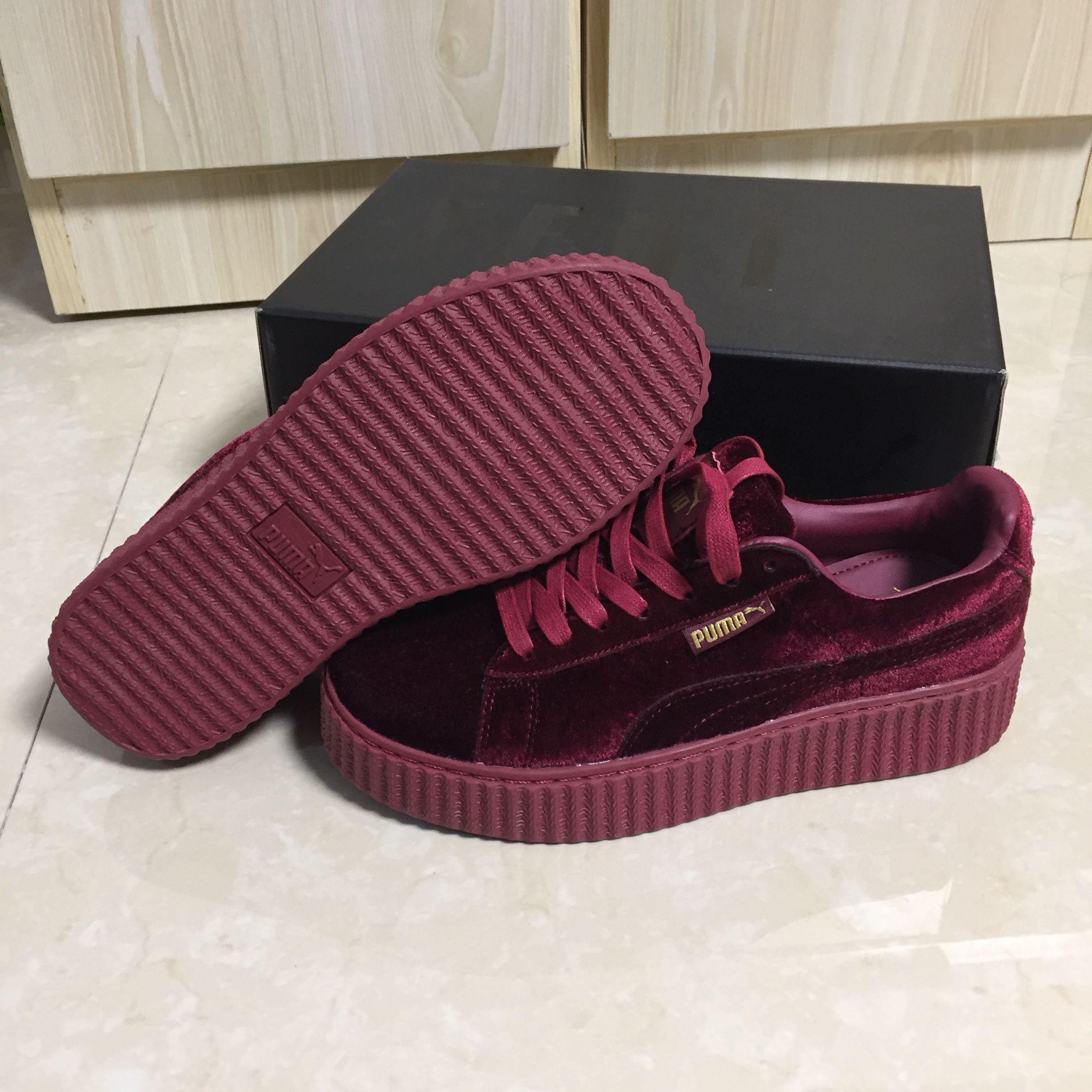 official photos 23dd1 0b1c4 Puma creeper red velvet Maroon:topkickss.com | Wear com...50 ...