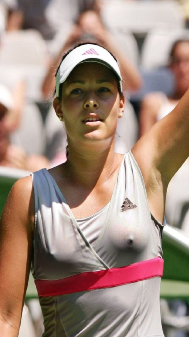 Ana Ivanovic Breasts ana excited after straight set win. | tennis players female