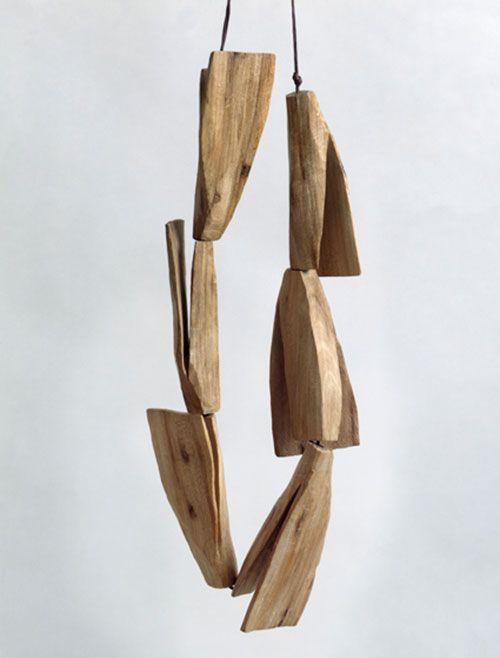 Dorothea Prühl  Necklace: Flyer 2010  Elm wood