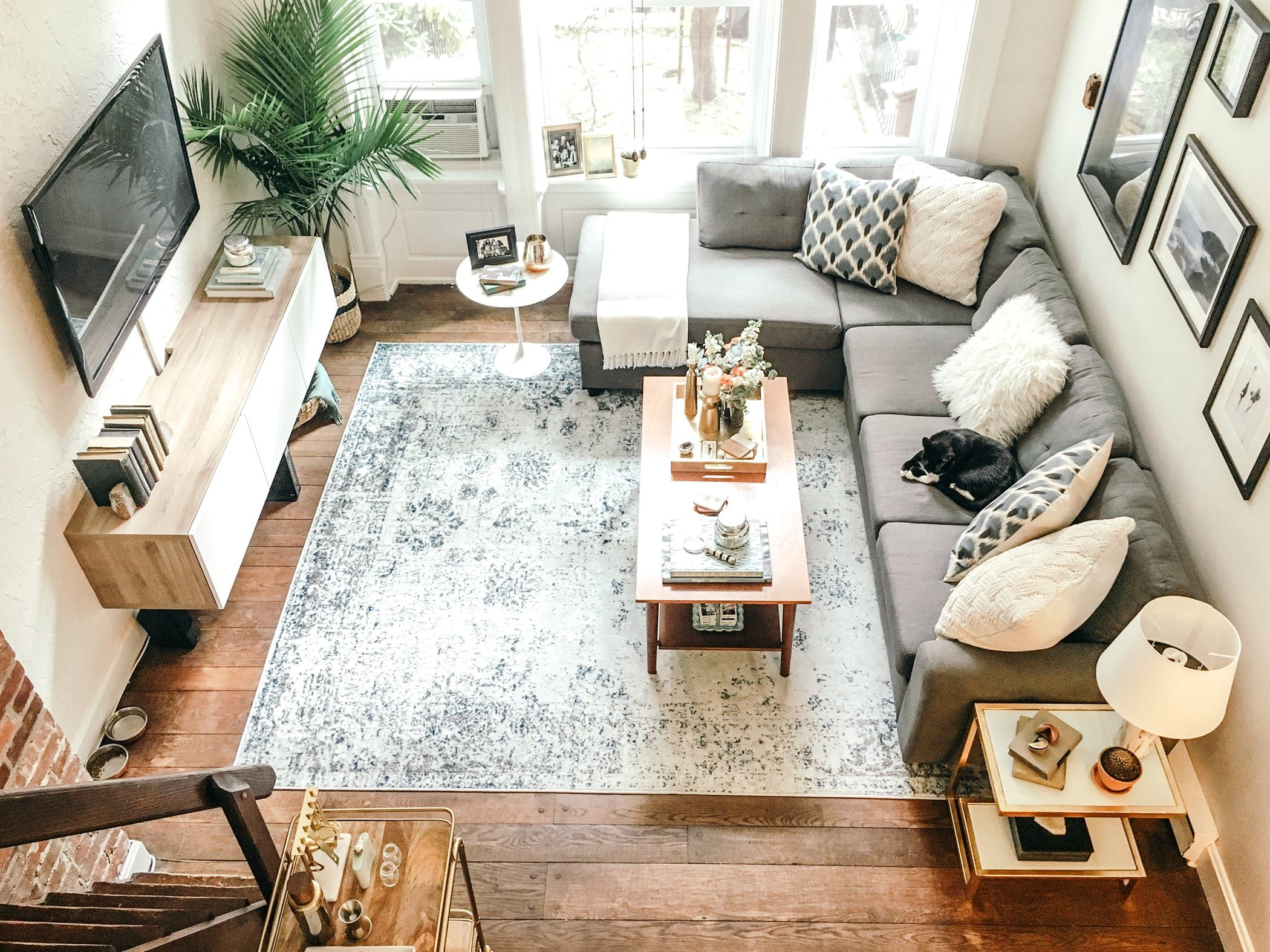 Two Creatives Share a Carefully Crafted Philadelphia Loft  Living